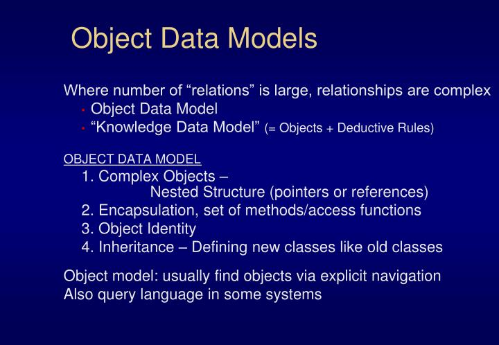 Object Data Models