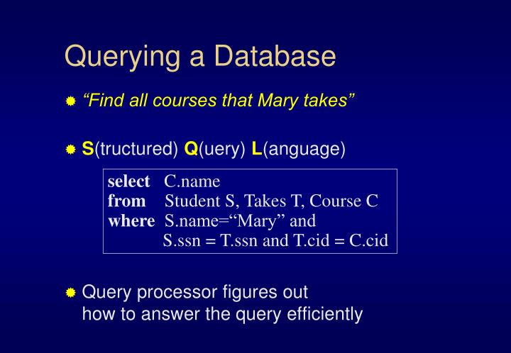 Querying a Database