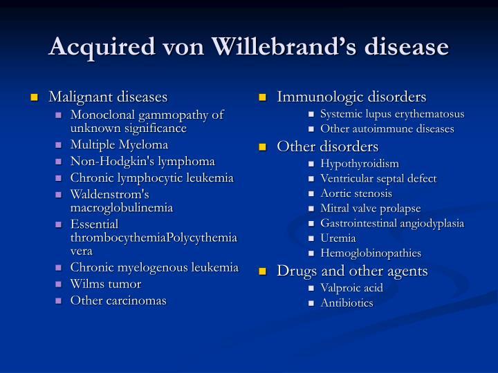 Malignant diseases