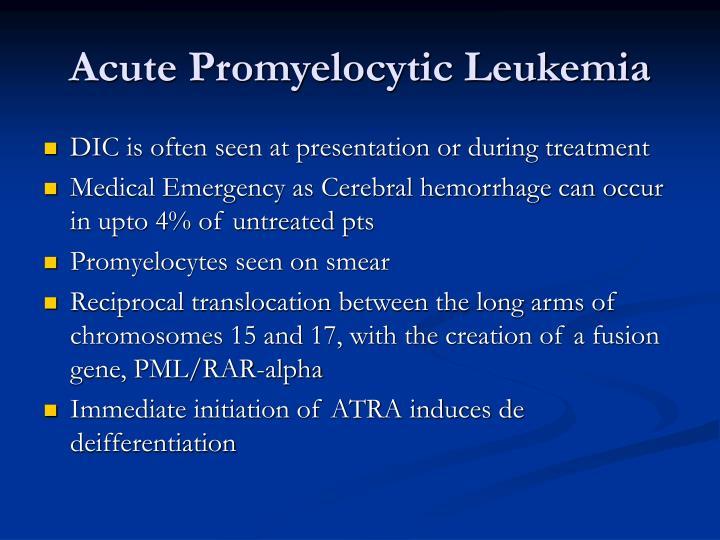 Acute Promyelocytic Leukemia