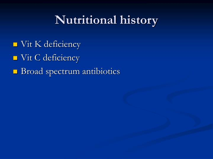 Nutritional history