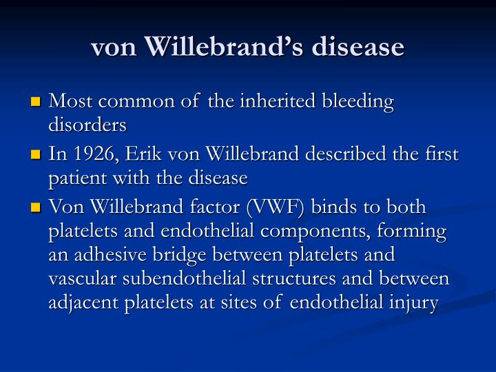 von Willebrand's disease