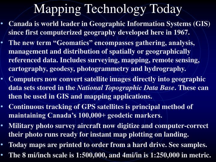 Mapping Technology Today