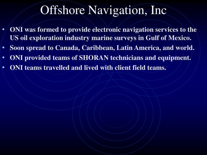 Offshore Navigation, Inc