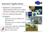 internet2 applications