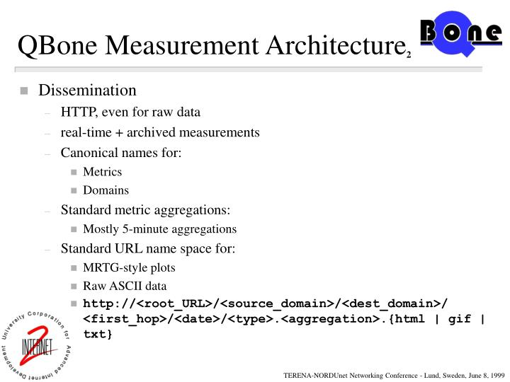QBone Measurement Architecture