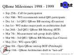 qbone milestones 1998 1999