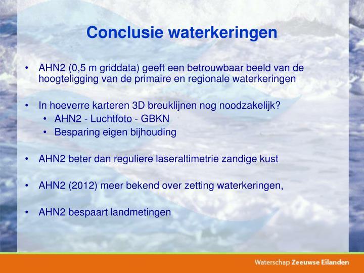 Conclusie waterkeringen