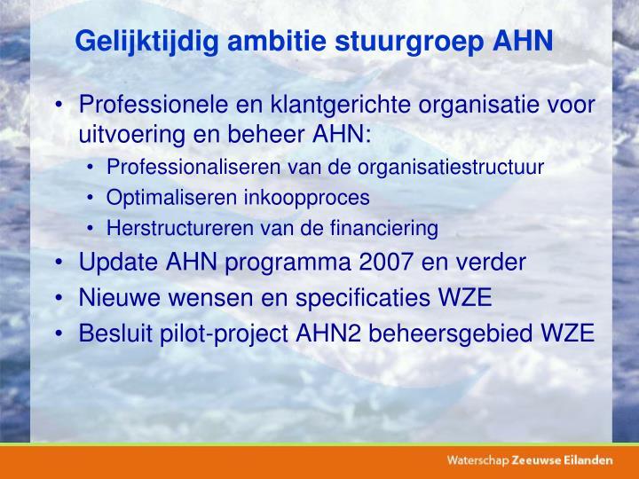 Gelijktijdig ambitie stuurgroep AHN