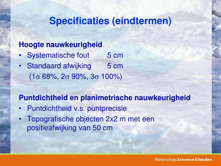 Specificaties (eindtermen)
