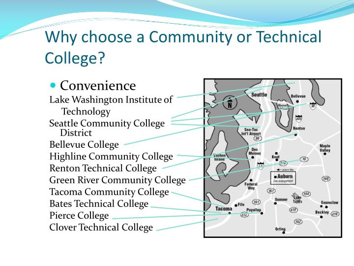 Why choose a Community or Technical College?