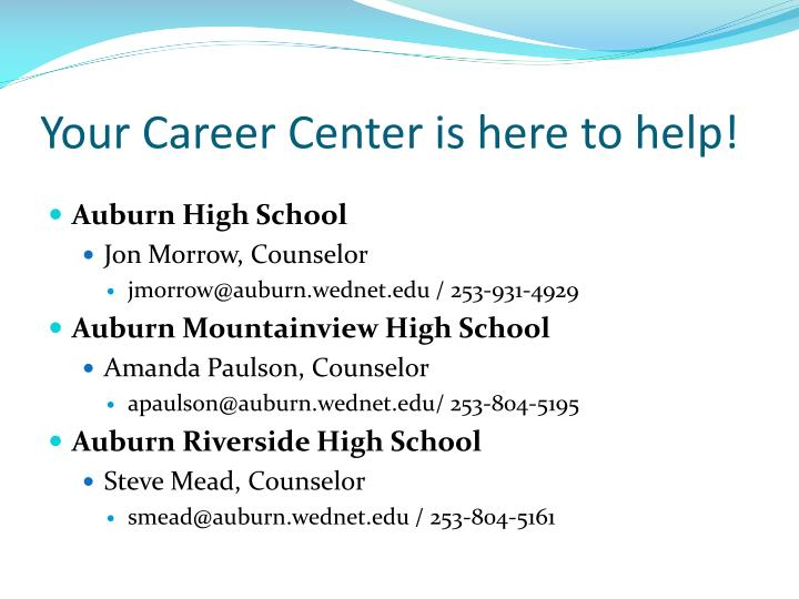 Your Career Center is here to help!
