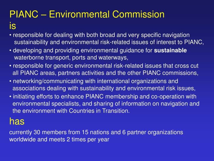 PIANC – Environmental Commission