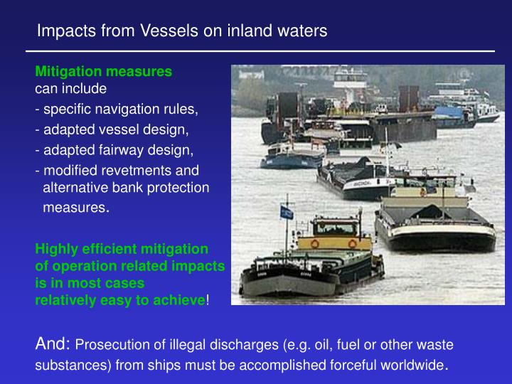 Impacts from Vessels on inland waters
