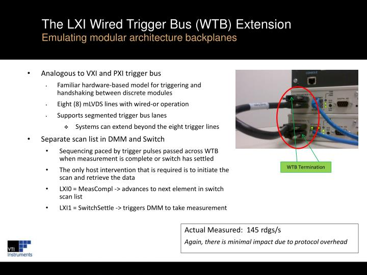 The LXI Wired Trigger Bus (WTB) Extension