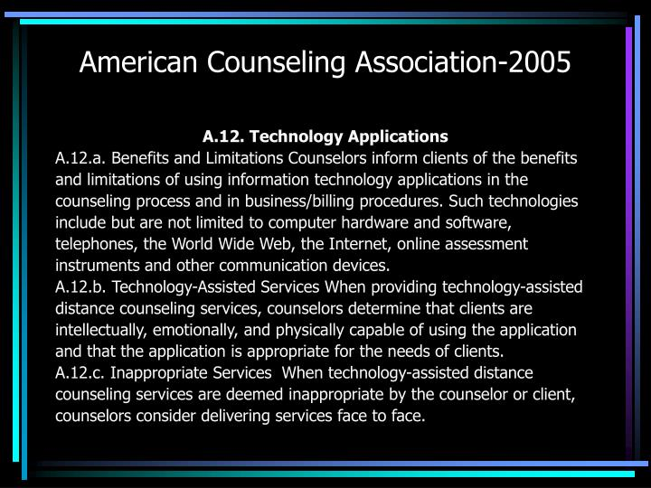 American Counseling Association-2005