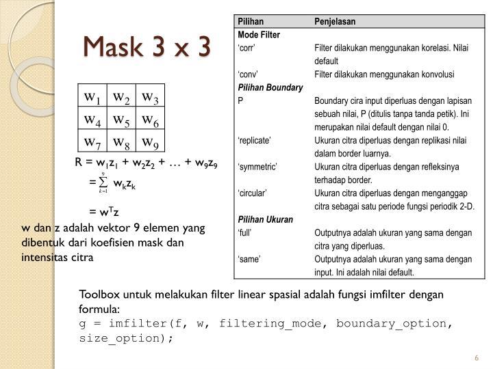 Mask 3 x 3