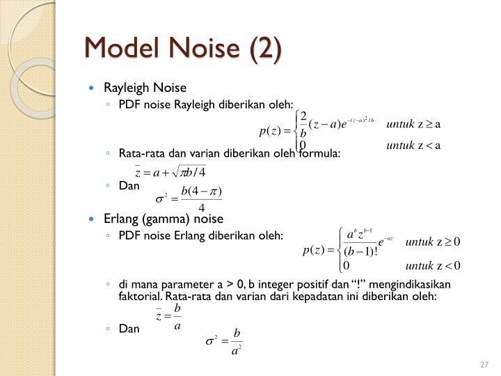 Model Noise (2)