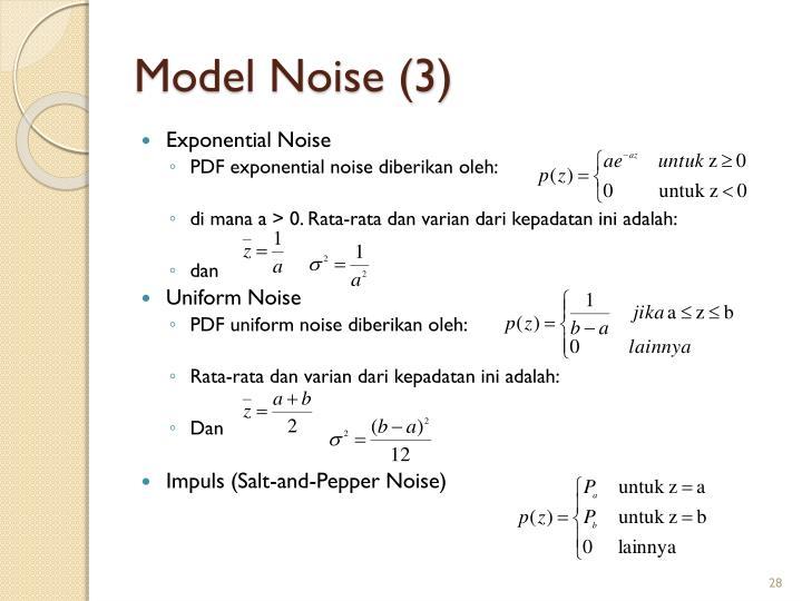 Model Noise (3)