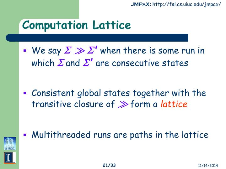 Computation Lattice