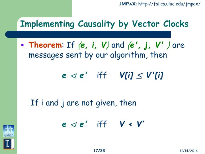 Implementing Causality by Vector Clocks