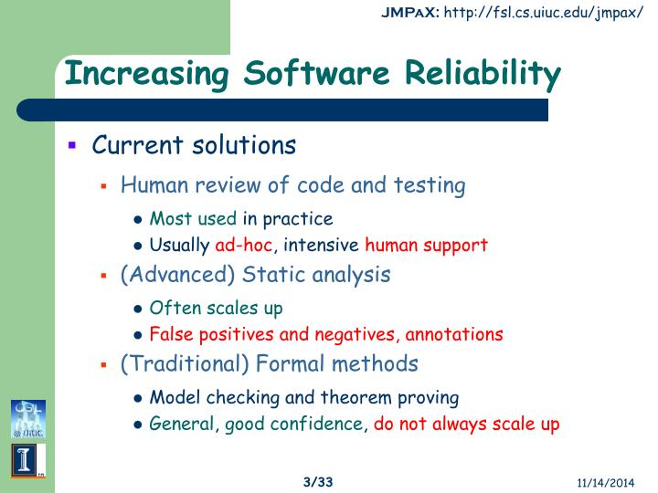 Increasing software reliability