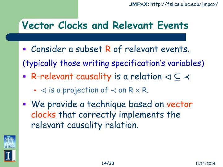 Vector Clocks and Relevant Events