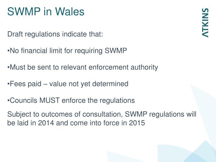 SWMP in Wales