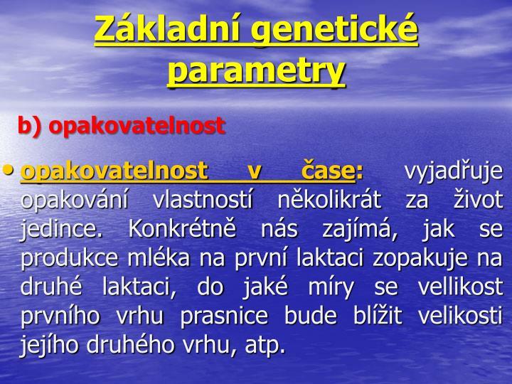 Základní genetické