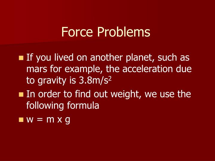 Force Problems
