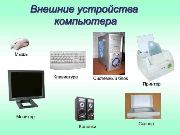 Внешние устройства