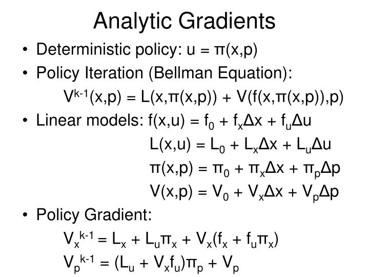 Analytic Gradients
