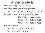 analytic gradients