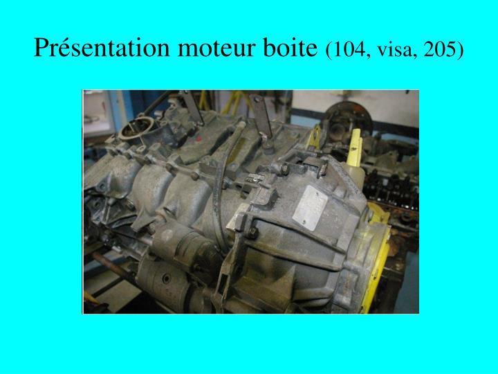 Présentation moteur boite