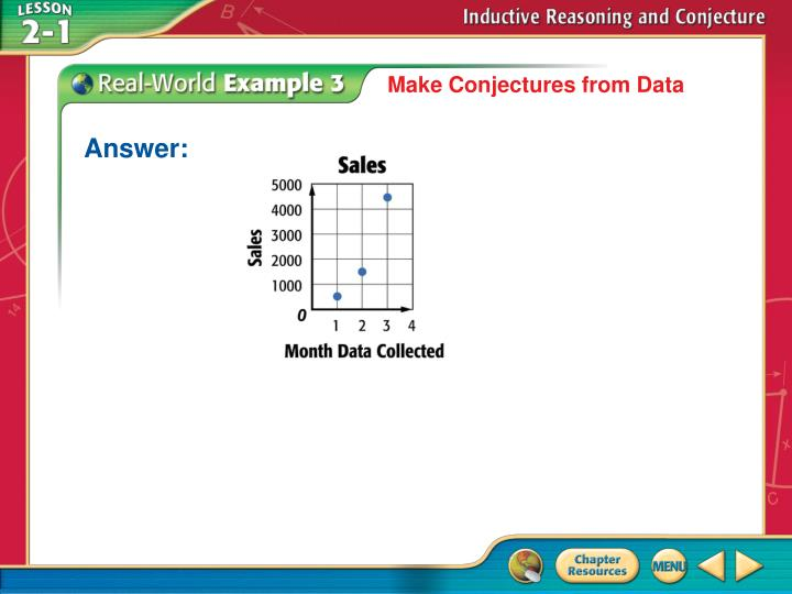 Make Conjectures from Data