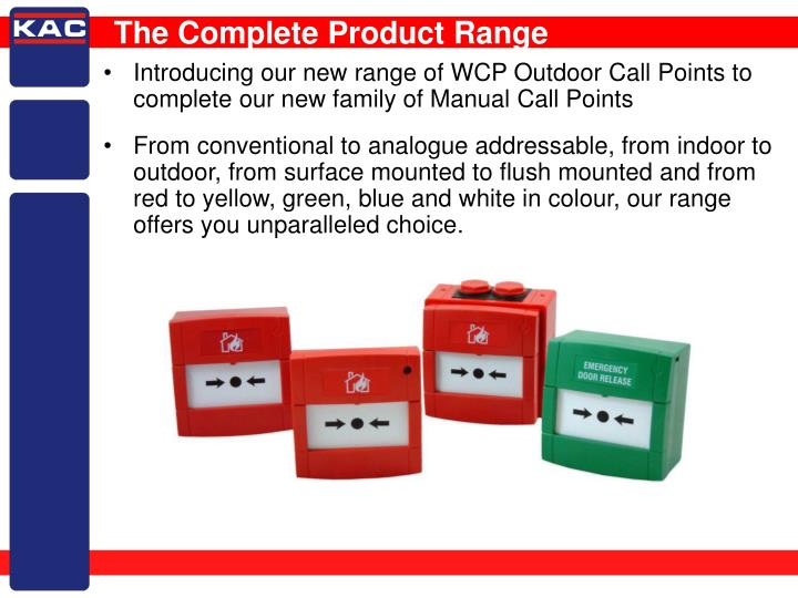 The Complete Product Range