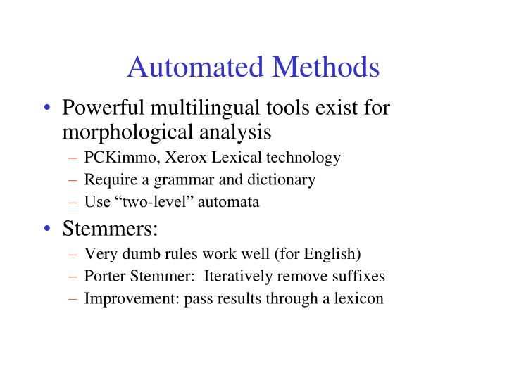 Automated Methods