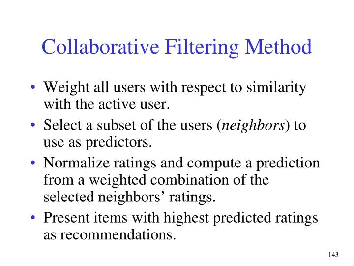 Collaborative Filtering Method