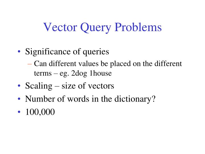 Vector Query Problems
