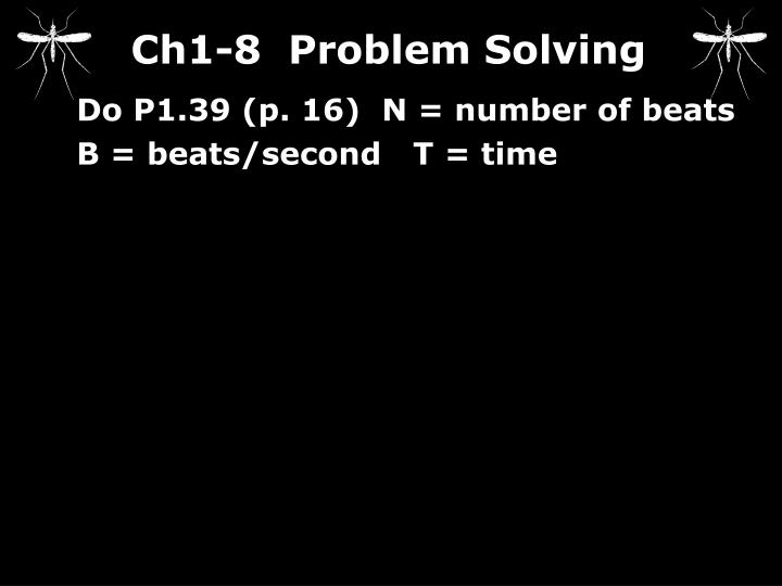 Ch1-8  Problem Solving