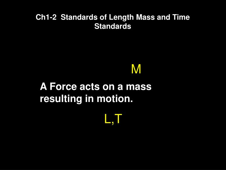 Ch1-2  Standards of Length Mass and Time Standards