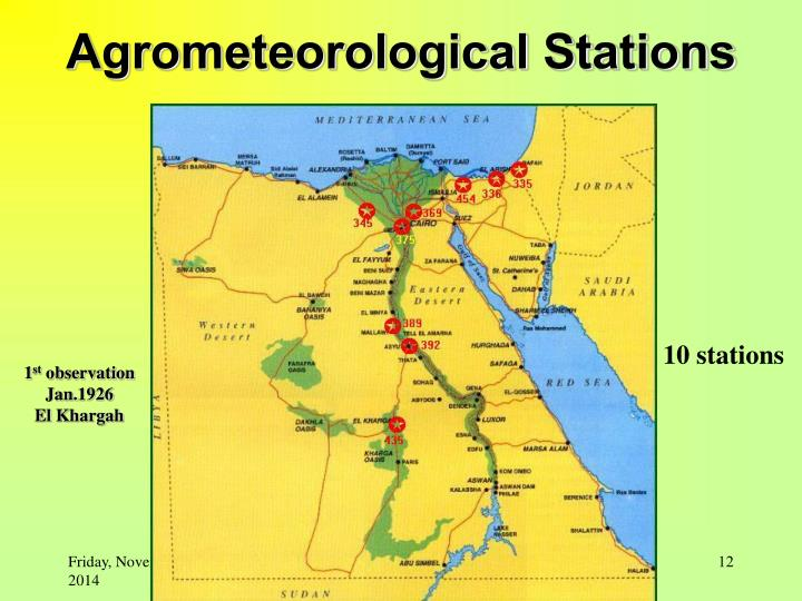 Agrometeorological Stations