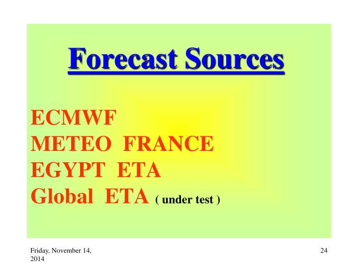 Forecast Sources
