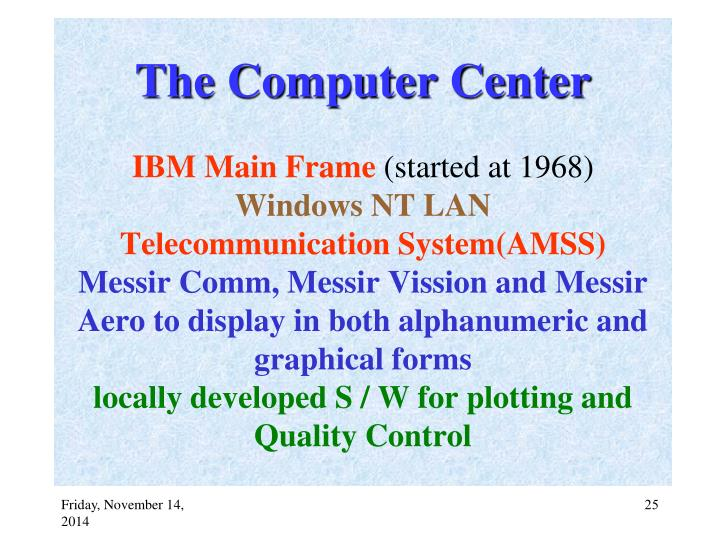 The Computer Center