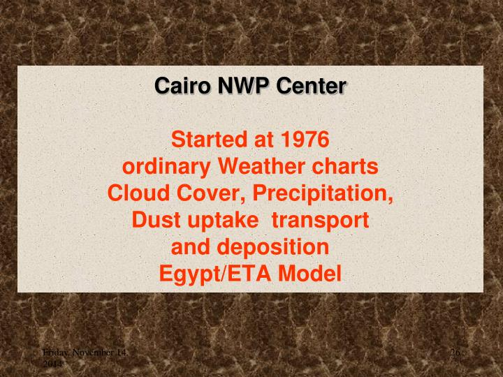Cairo NWP Center