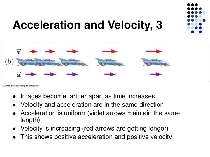 Acceleration and Velocity, 3