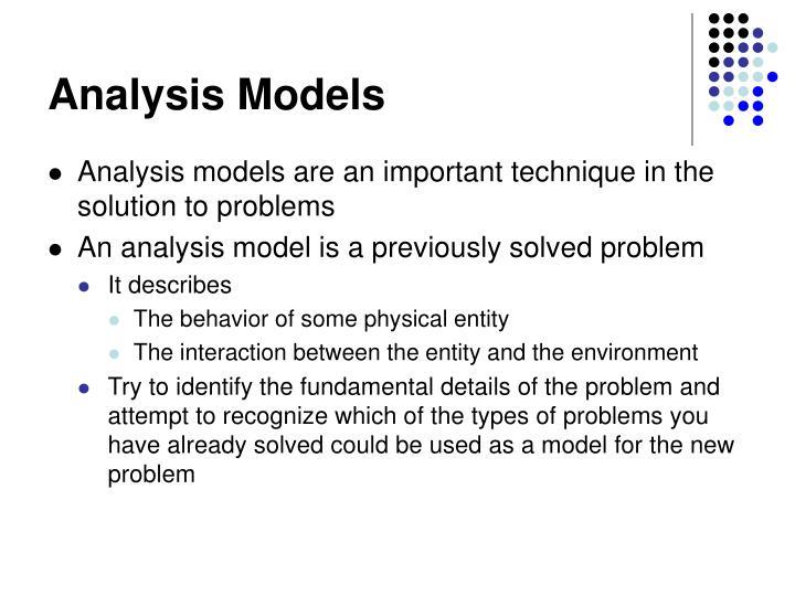 Analysis Models