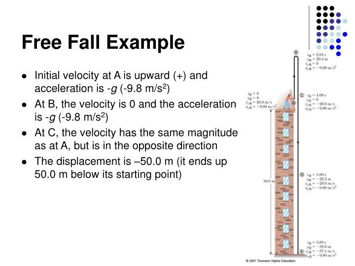 Free Fall Example