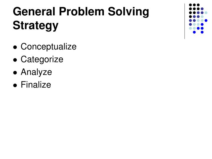 General Problem Solving Strategy