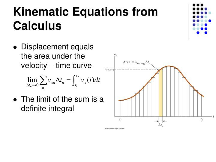 Kinematic Equations from Calculus